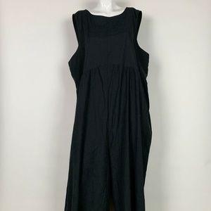 Asos Jumpsuit Black Charcoal Gray Women Sz 16 NEW